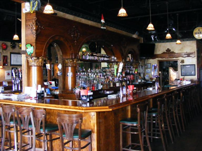 Irish Pub for sale features fantastic bar and authentic atmosphere.
