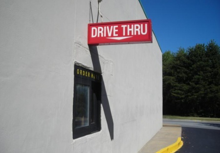 Atlanta Restaurant for Lease Endcap with Drive Through