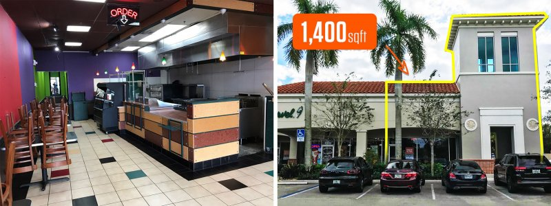 Restaurant for Lease in Sunrise, Florida – Publix Anchored Center