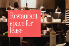 Restaurant Space for Lease Duluth Georgia Features End cap and Patio